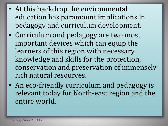 need and importance of environmental education