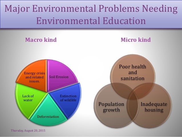the importance of environmental education Starting early: environmental education during the early  with the natural environment is an important part of  for environmental education.