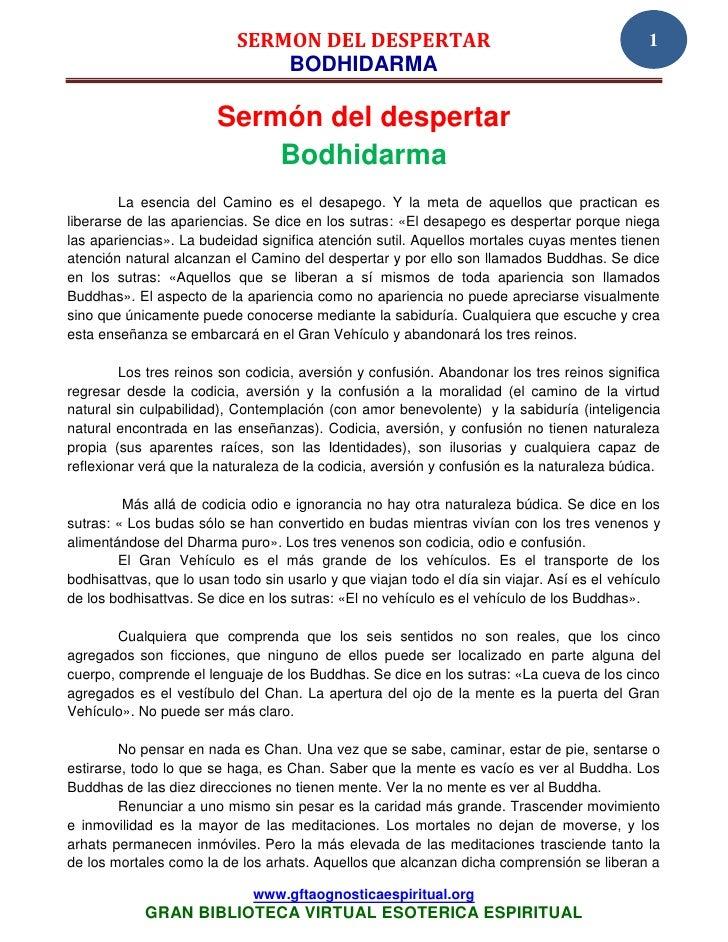 SERMON DEL DESPERTAR                                                1                               BODHIDARMA            ...