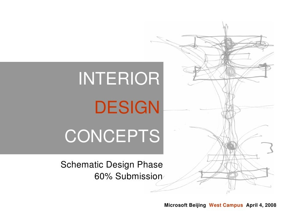 INTERIOR        DESIGN CONCEPTS Schematic Design Phase       60% Submission                           Microsoft Beijing We...