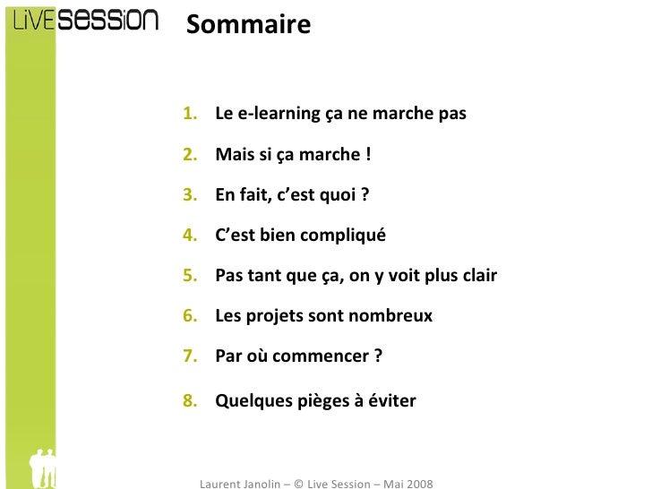 Quid des formations en ligne (e-learning) Slide 3