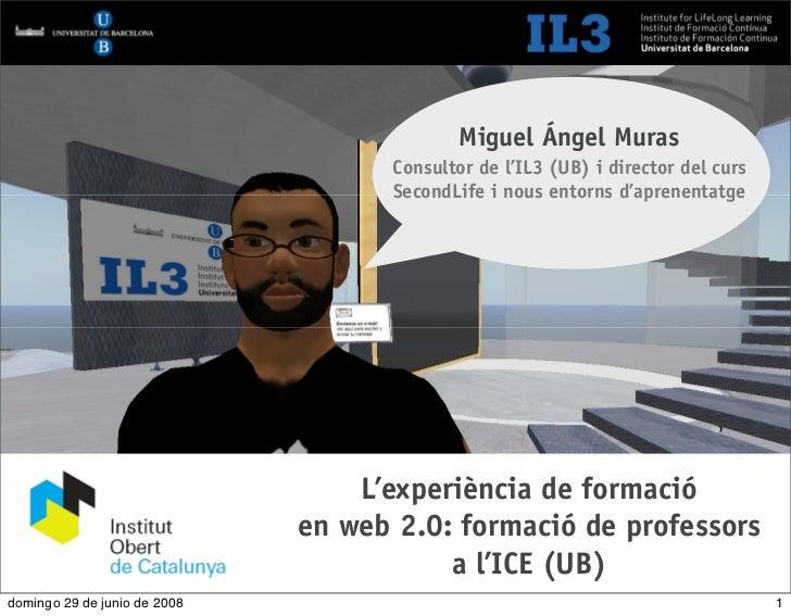 [   1   ]                              Formació de professors a l'ICE                                                 Migu...