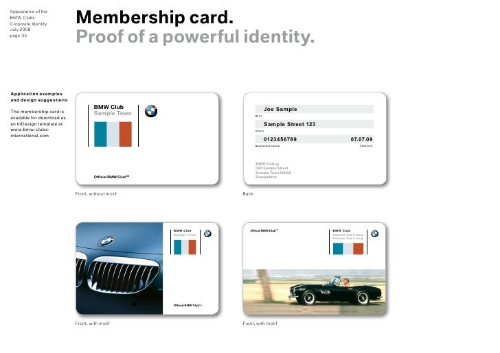 sample membership card template