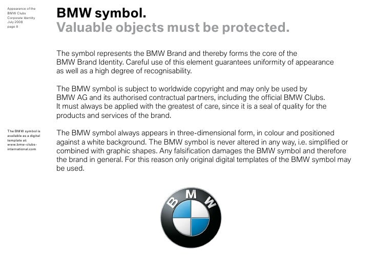 bmw clubs design guidelines for appearance rh slideshare net Sample Corporate Identity Hotel Corporate Identity Manual
