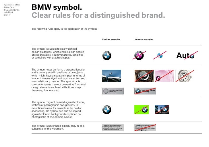 bmw clubs design guidelines for appearance rh slideshare net Walmart Corporate Identity Corporate Identity Examples