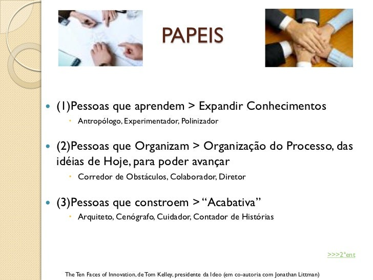 PAPEIS   (1)Pessoas que aprendem > Expandir Conhecimentos       Antropólogo, Experimentador, Polinizador   (2)Pessoas q...
