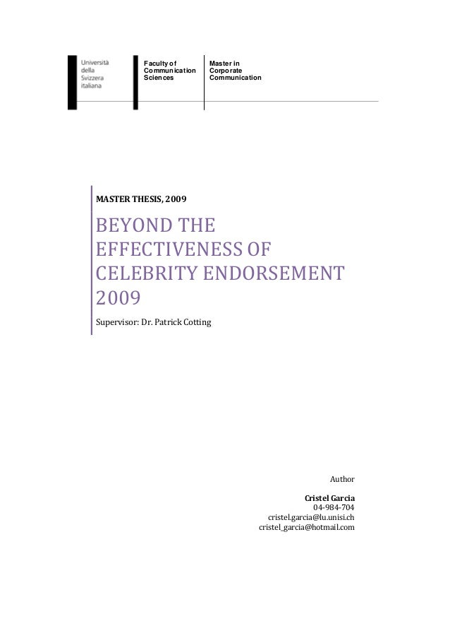 Faculty of       Master in             Communication    Corporate             Sciences         CommunicationMASTER THESIS,...