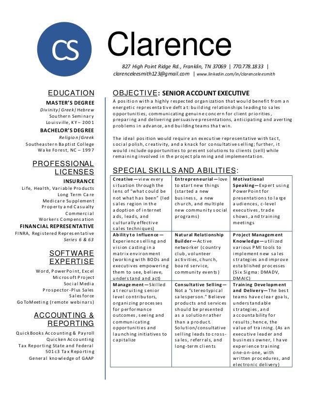 cls new resume account exec