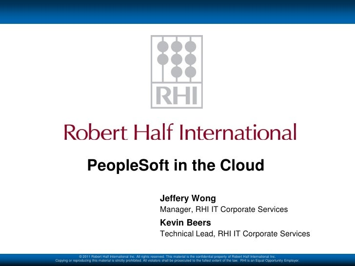 PeopleSoft in the Cloud                                                                       Jeffery Wong                ...