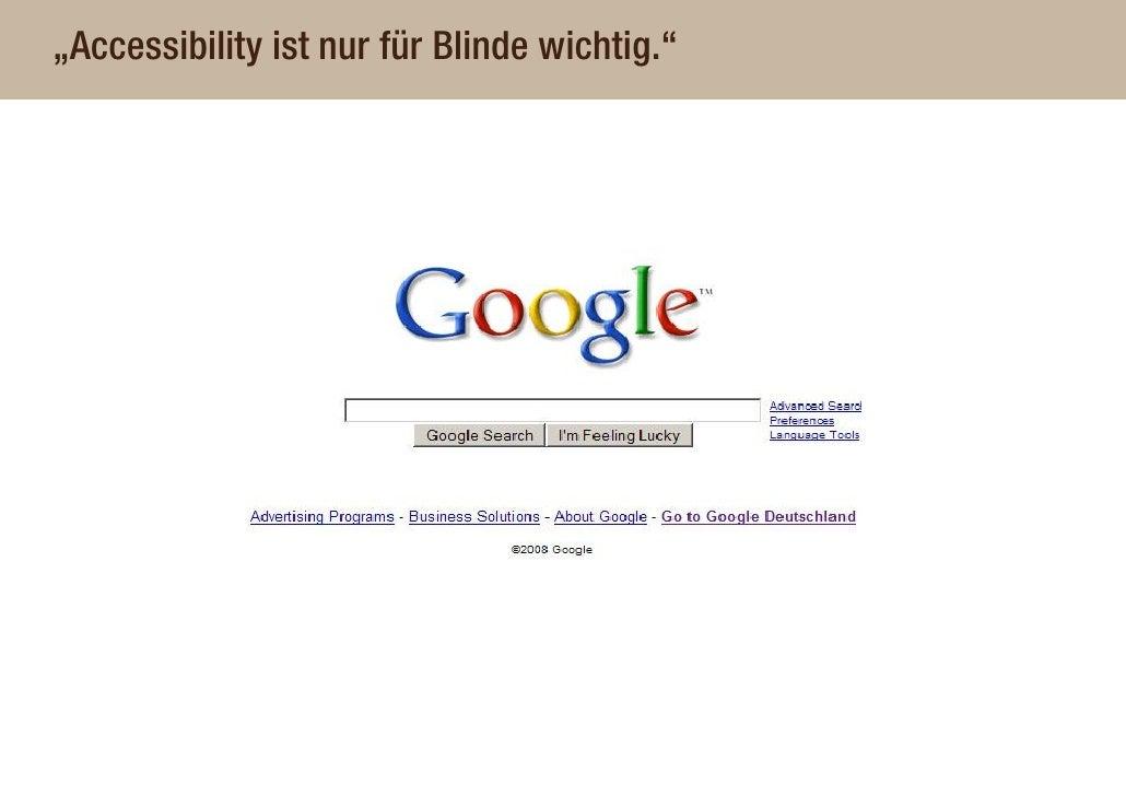"""""""Accessibility ist nur für Blinde wichtig."""""""