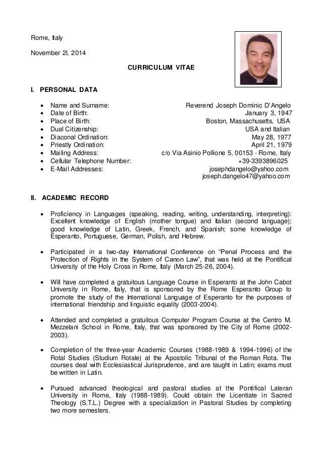 curriculum vitae - november 21  2014