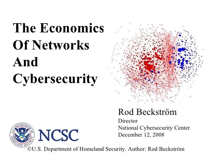The Economics Of Networks  And Cybersecurity Rod Beckström Director National Cybersecurity Center December 12, 2008 ©U.S. ...