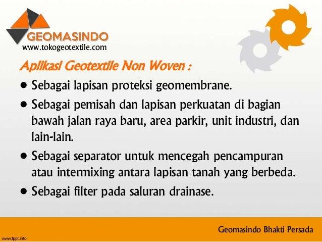 0812 2010 1979 (telkomsel) jual geotextile di liwa Lampung Barat Slide 2