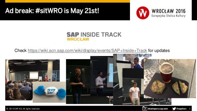SAP Developer Center - March 2016 update