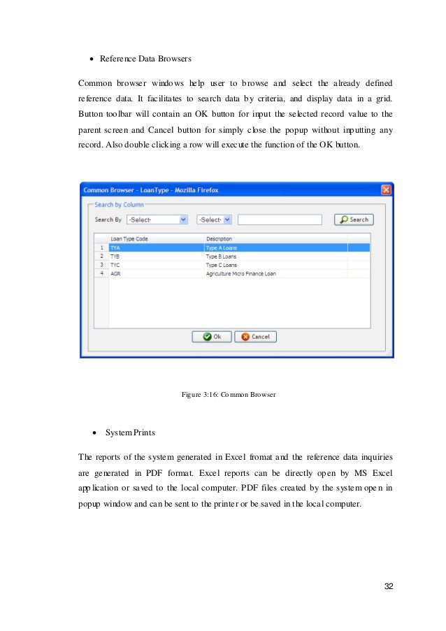 loan management system project report pdf