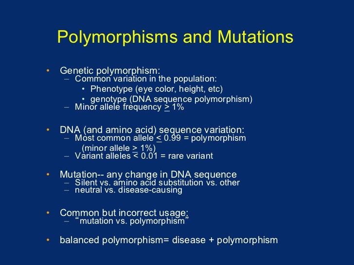 mutations and polymorphisms