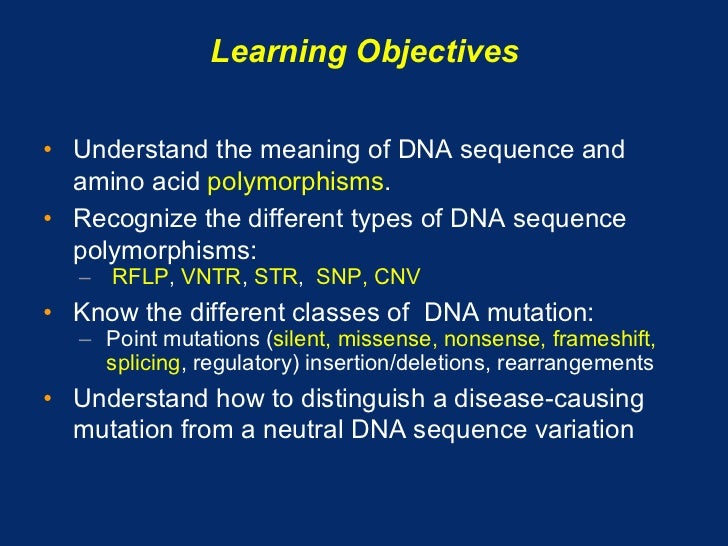 08.13.08: DNA Sequence Variation