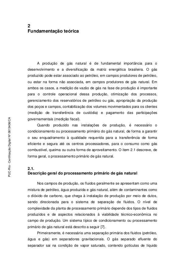 2 Fundamentação teórica A produção de gás natural é de fundamental importância para o desenvolvimento e a diversificação d...