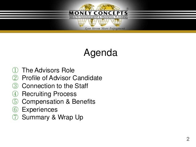 Money Concepts: Slides for What to Look for in Your Wealth