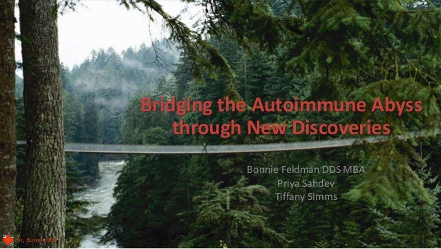 © 2015 - All rights reserved. Bonnie Feldman DDS MBA Priya Sahdev Tiffany Simms Bridging the Autoimmune Abyss through New ...