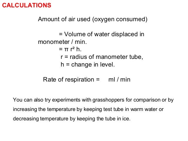 081 estimation of rate of respiration in cockroach