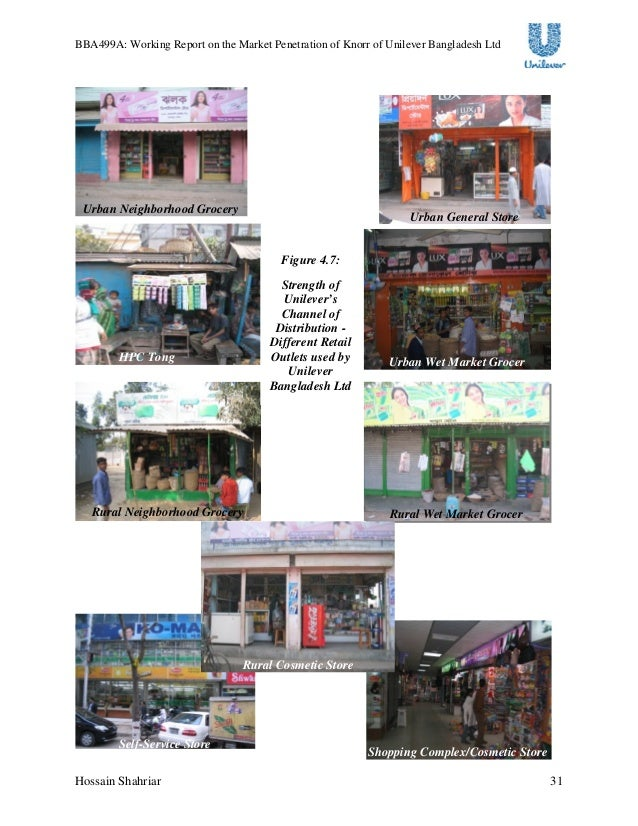 marketing distribution channel unilever bangladesh Correlational analysis of distribution cost and freight characteristics of manufactured  distribution management (pdm), marketing  unilever bangladesh.