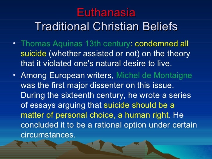 Can euthanasia ever be justified essay