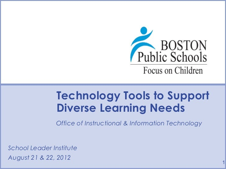 Technology Tools to Support              Diverse Learning Needs              Office of Instructional & Information Technol...