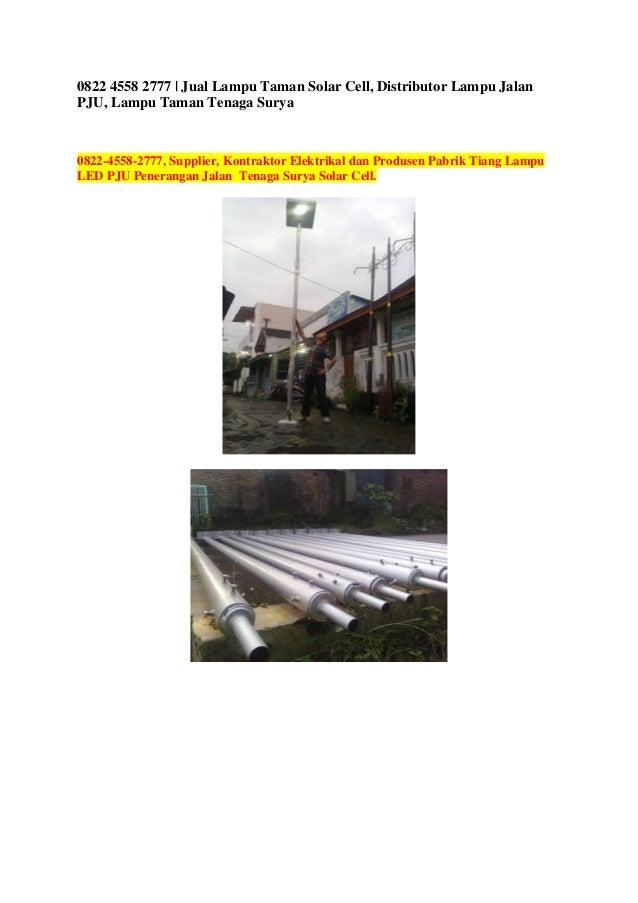 0822 4558 2777 Jual Lampu Taman Solar Cell Distributor Lampu Jalan