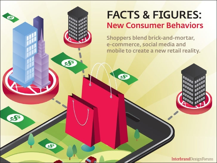 FACTS & FIGURES: New Consumer Behaviors Shoppers blend brick-and-mortar, e-commerce, social media and mobile to create a n...