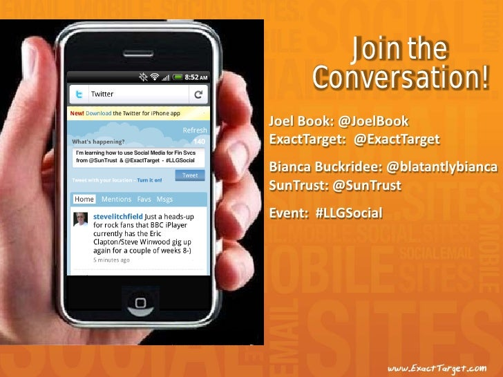 Join the                                                          Conversation!                                           ...