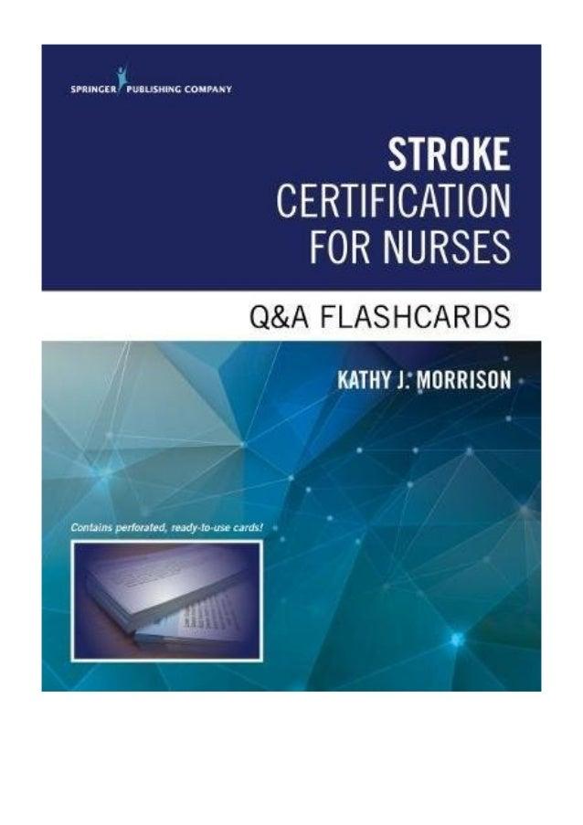 Stroke Certification For Nurses Qa Flashcards Pdf Kathy Morrison M