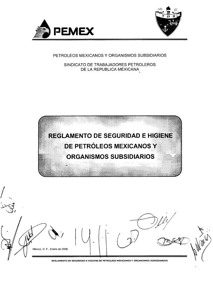 Reglamento de Seguridad e Higiene de Petroleos Mexicanos
