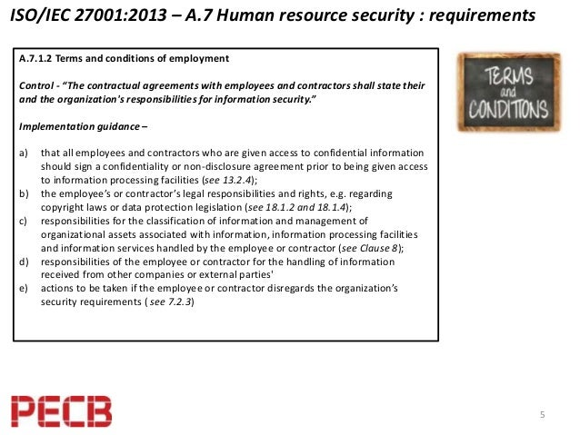 what are iso 27001 requirements