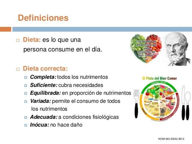 dieta suficiente completa y equilibrada Una Alimentacion Saludable, completa, suficiente y equilibrada.
