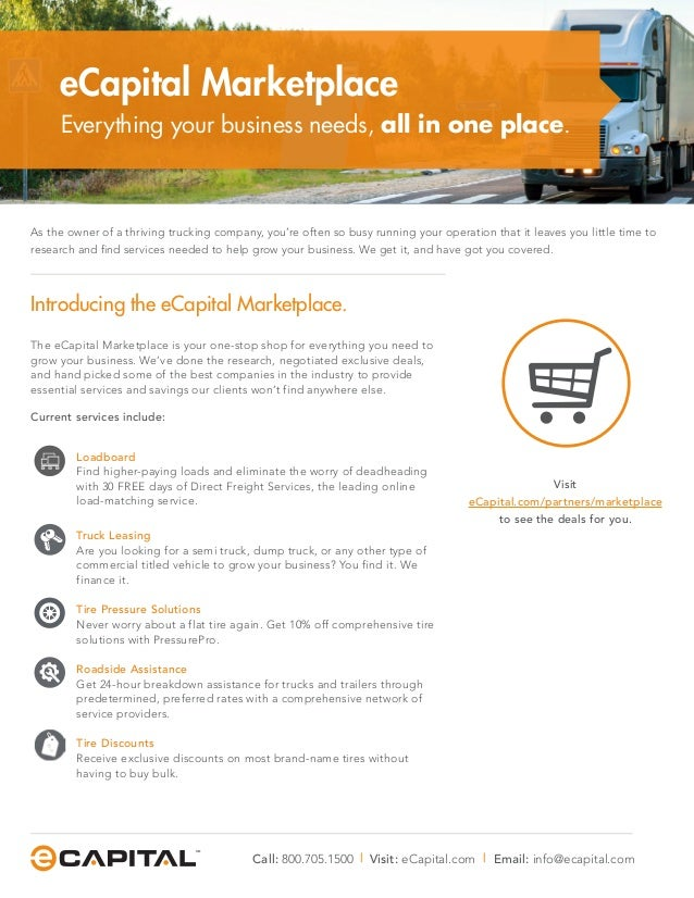 The eCapital Marketplace is your one-stop shop for everything you need to grow your business. We've done the research, neg...
