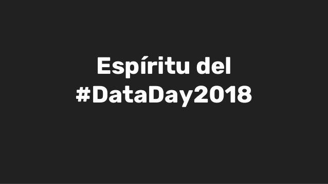 Esp�ritu del #DataDay2018