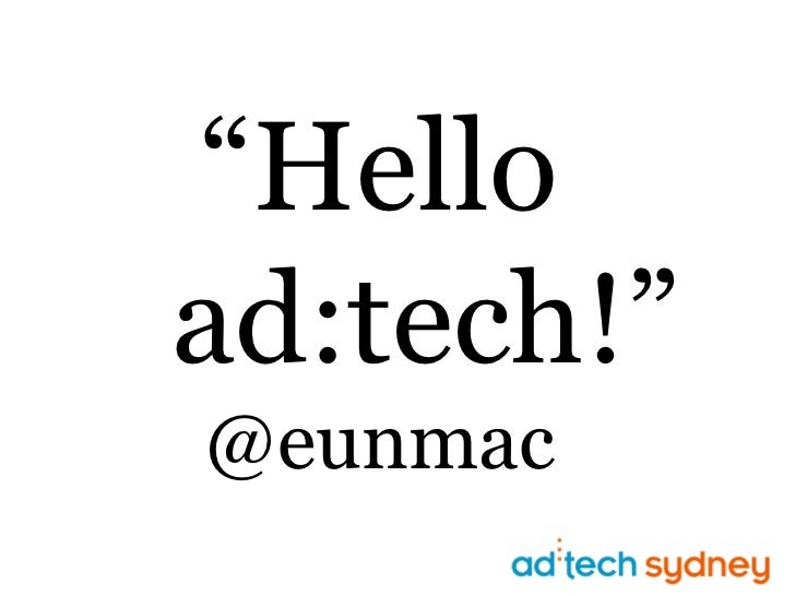 """Helload:tech!""@eunmac<br />"