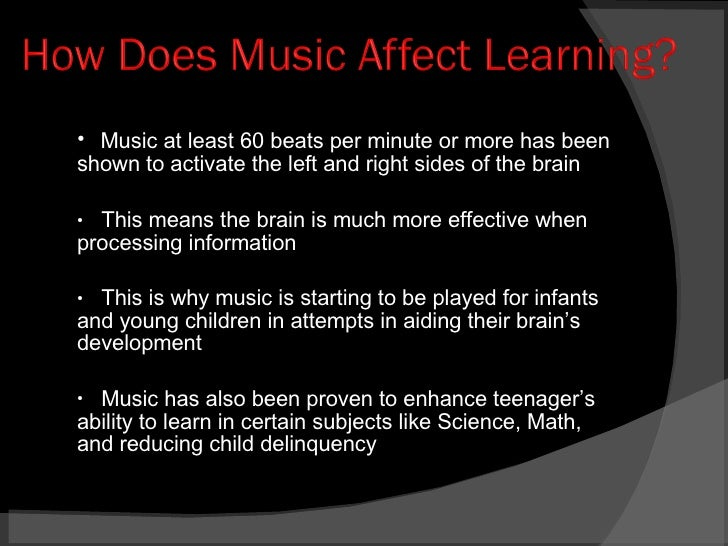 0856380 Music's Affects on the Brain