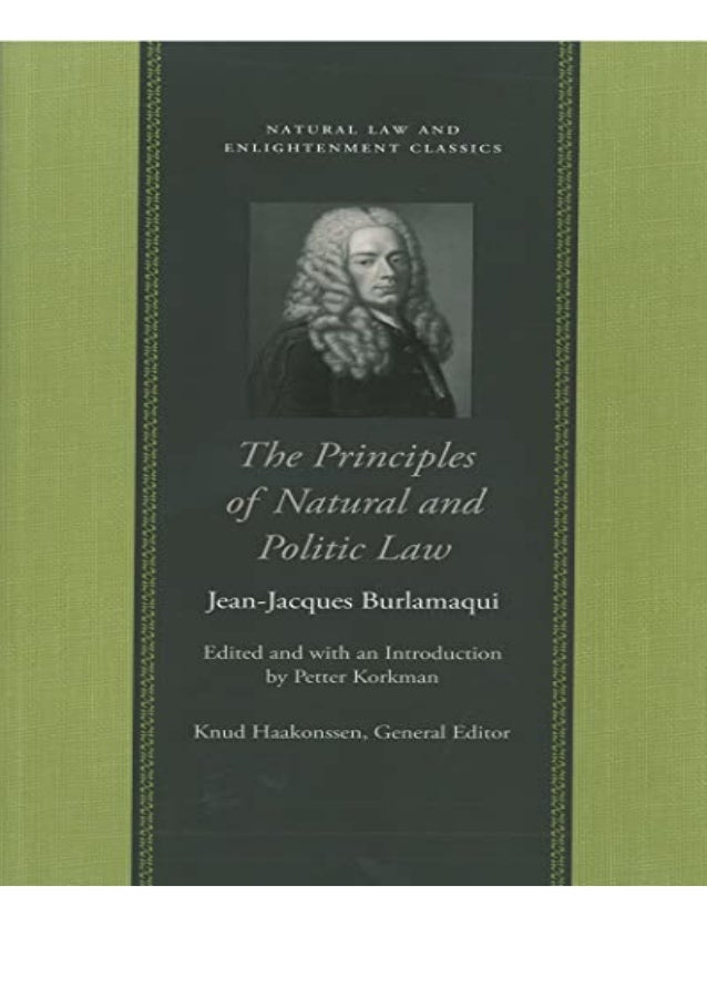 PDF The Principles of Natural and Politic Law (Natural Law and Enlightenment Classics) unlimited Details