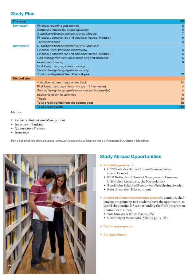 Bocconi University Masters Program Brochure