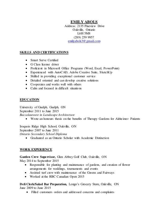 Resume Sept 2015