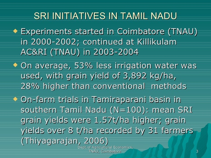 0870 Cost-Benefit Analysis of SRI Technique in Paddy ...