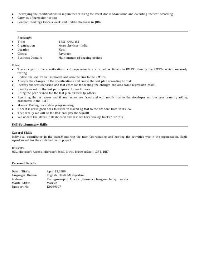 aparnanair resume