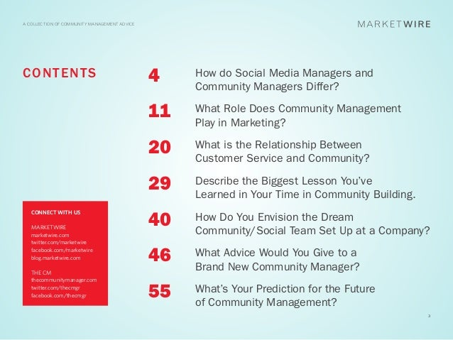 A COLLECTION OF COMMUNITY MANAGEMENT ADVICEC O N T EN T S                                4    How do Social Media Managers...