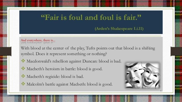 """fair is foul"" It just that i havent learnt macbeth and i only no a brief stuff about macbath in english and in drama can u help me how does it show itself macbeth (fair is foul, foul is fair) uhh thankyou for helping."