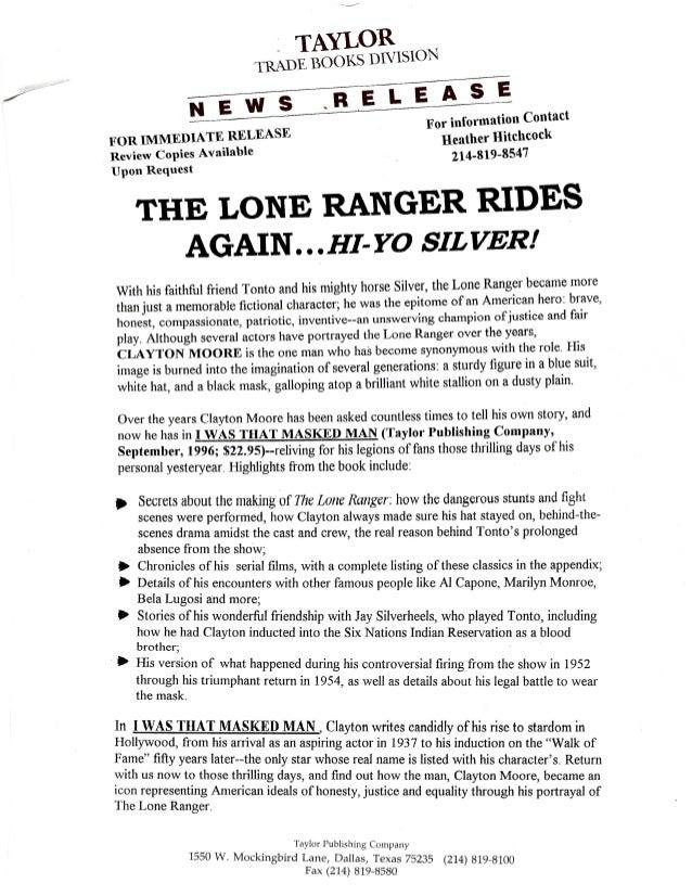 Lone Ranger Press Kit Slide 2