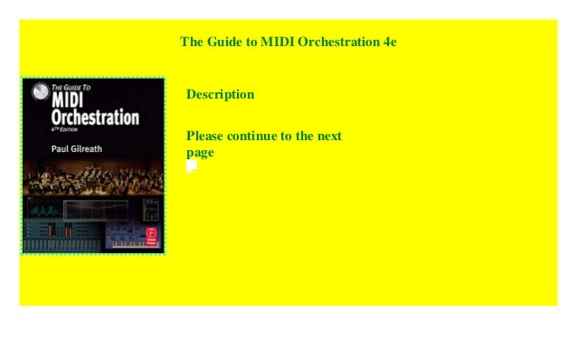 Guide To Midi Orchestration Pdf