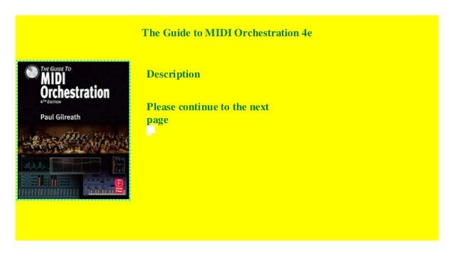 Guide To Midi Orchestration Pdf