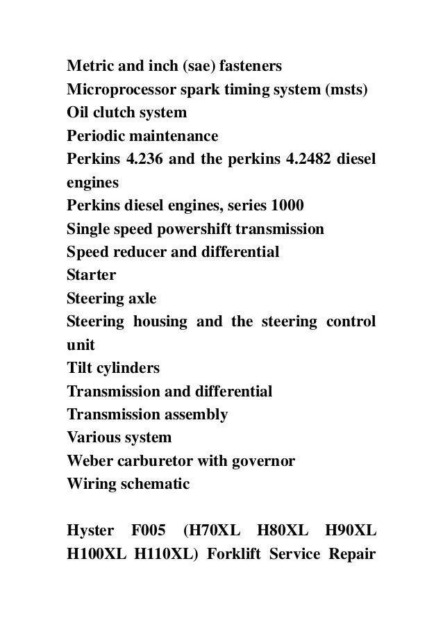 hyster f005 h70xl h80xl h90xl h100xl h110xl forklift service repair hyster f005 h70xl h80xl h90xl h100xl h110xl forklift service repair factory manual instant